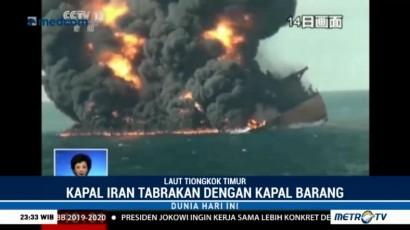 Petugas Kesulitan Cari Korban Tabrakan Kapal Tanker Iran