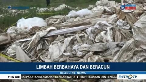 Polres Karawang Amankan 78 Ton Karung Terkontaminasi Limbah B3