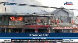 Kebakaran Melanda Pertokoan di Dinoyo Malang