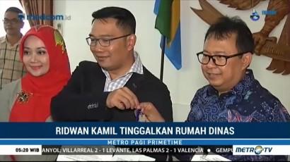 Ridwan Kamil Tinggalkan Rumah Dinas
