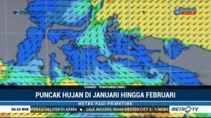 BMKG: Puncak Musim Hujan Terjadi di Januari-Februari