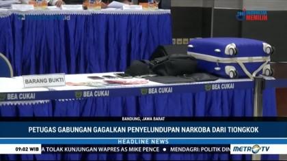 Petugas Gabungan Gagalkan Penyelundupan Ketamine Senilai Rp4 Miliar di Bandung