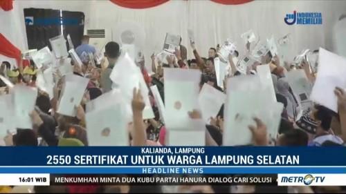 Jokowi Bagi-bagi Ribuan Sertifikat Tanah di Lampung