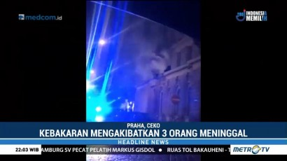 Kebakaran di Hotel Praha Tewaskan Tiga Orang