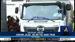 Jokowi Jajal Jalan Tol Bakauheni-Terbanggi Besar Naik Truk