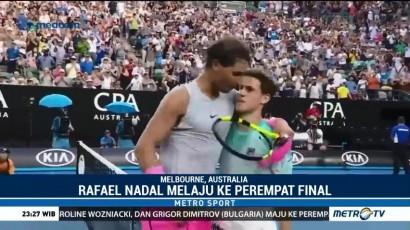 Nadal Tembus Perempat Final Australia Terbuka 2018