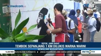 Mural Karya Mahasiswa Depok Pecahkan Rekor MURI