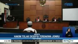 Hakim Tolak Eksepsi Jonru Ginting