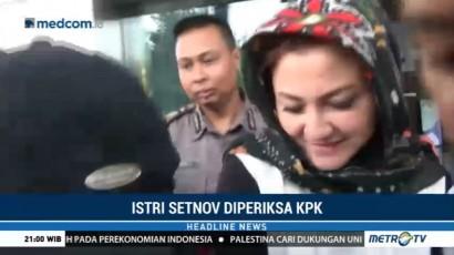 Istri Setya Novanto Bungkam Usai Diperiksa KPK