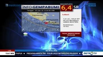 Gempa 6,4 SR Berpusat di Banten