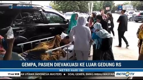 Gempa, Pasien RS Sentra Medika Cibinong Dievakuasi ke Luar Gedung