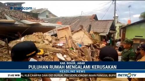Puluhan Rumah di Kabupaten Bogor Rusak Akibat Gempa