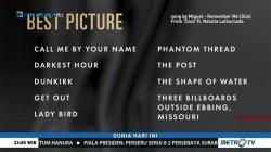 Ini Nominasi Lengkap Oscar 2018