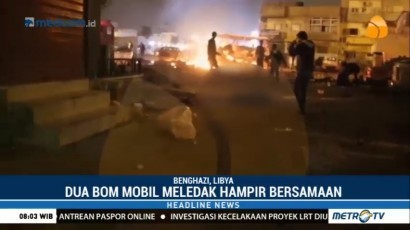 Dua Bom Mobil Meledak Hampir Bersamaan di Libya