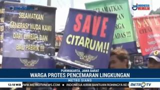 Warga Purwakarta Unjuk Rasa Protes Pencemaran Sungai Citarum