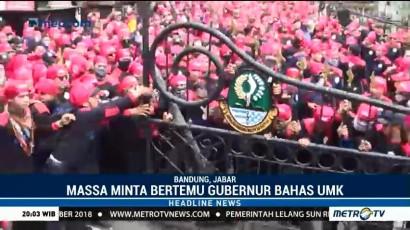 Demo Buruh di Bandung Berujung Ricuh