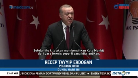 Erdogan Ancam akan Terus Berantas Kurdi