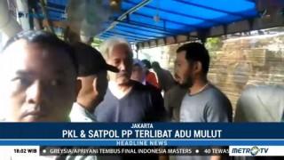 Satpol PP Bersitegang dengan PKL Saat Razia di Utan Kayu