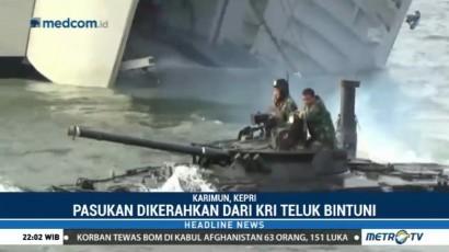 TNI AL Gelar Latihan Pendaratan Khusus di Karimun