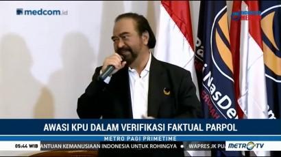 Surya Paloh Minta KPU Jaga Independensi dalam Verifikasi Faktual