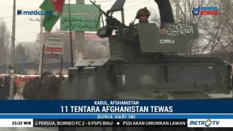 Kamp Militer Afghanistan Diserang Pemberontak, 11 Tentara Tewas