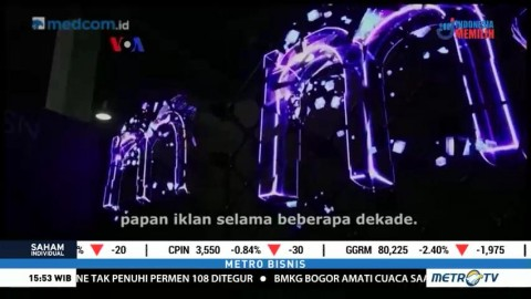 Papan Iklan Berteknologi Hologram Tiga Dimensi
