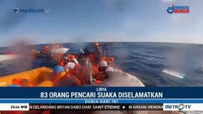 83 Orang Pencari Suaka Diselamatkan di Tengah Laut Libya