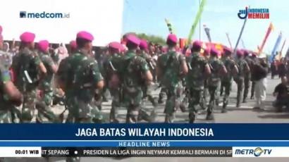 Kirab Pasukan Tutup Latihan Pendaratan Khusus Marinir 2 Jakarta di Karimun