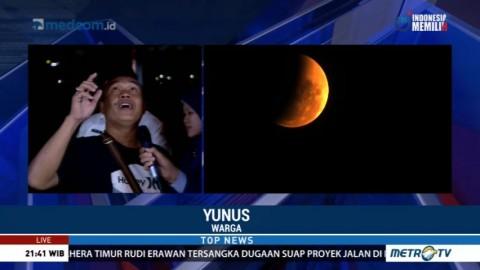 Cuaca Berawan, Warga Kesulitan Lihat Gerhana Bulan di Ancol