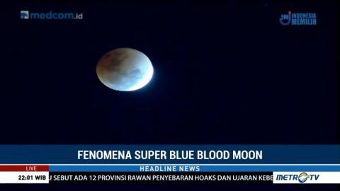 Cuaca Berawan saat Super Blue Blood Moon di Aceh