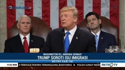 Trump Soroti Isu Imigrasi di Pidato Kenegaraan Pertamanya
