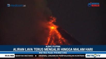Gunung Mayon di Filipina Masih Semburkan Lava