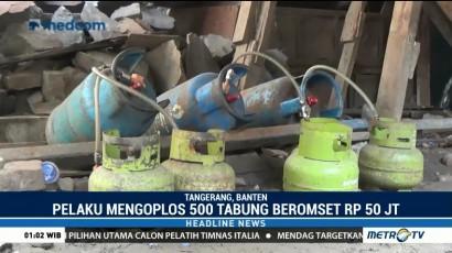 Polisi Gerebek Lokasi Pengoplosan Gas di Tangerang