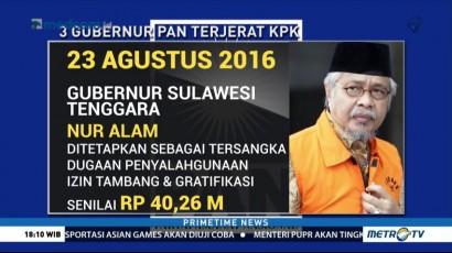 Tiga Gubernur Kader PAN Terjerat Kasus Korupsi