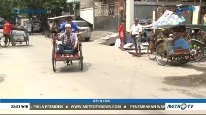 Becak di Ibu Kota