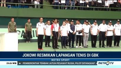 Jokowi Resmikan Lapangan Tenis di GBK