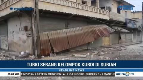 Kota Arfin Suriah Porak-poranda akibat Operasi Militer Lawan Kurdi