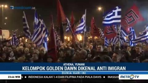 Kelompok Anti Imigran di Yunani Peringati 22 Tahun Konflik dengan Turki