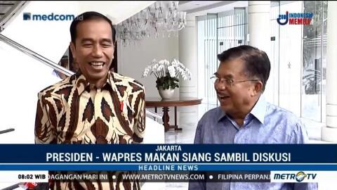 Komunikasi Makan Siang ala Jokowi dan JK