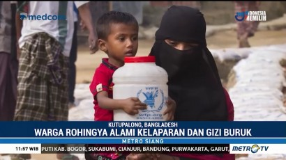 Pengungsi Rohingya Terancam Kelaparan dan Gizi Buruk