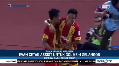 Assist Perdana Evan Dimas untuk Selangor