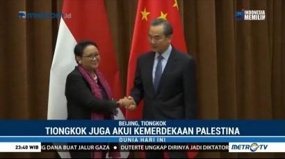 Menlu Retno Minta Tiongkok Bersama Bantu Palestina