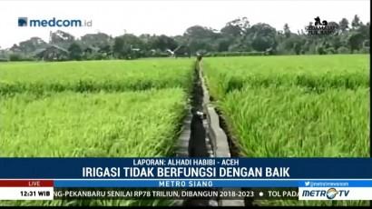 Irigasi Rusak, 150 Hektare Sawah di Aceh Barat Kekeringan