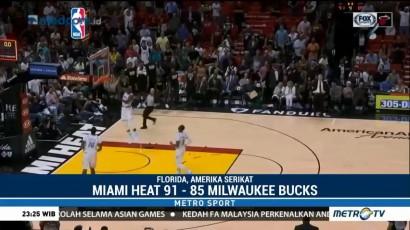 Wade Bawa Heat Unggul Lawan Bucks