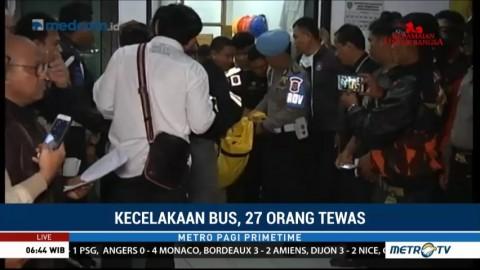23 Jenazah Korban Kecelakaan Bus Sudah Diberangkatkan ke Ciputat