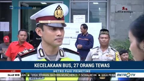 43 Ambulans Bawa Korban Kecelakaan Bus di Tanjakan Emen ke RSUD Tangsel