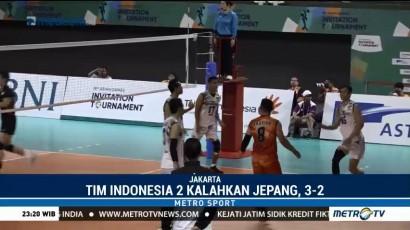 Test Event Asian Games, Timnas Voli Indonesia 2 Tekuk Jepang