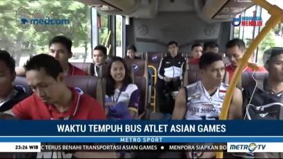 Menguji Waktu Tempuh Bus Atlet Asian Games