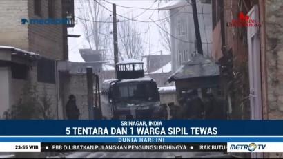 Lima Tentara India Tewas dalam Baku Tembak di Kashmir