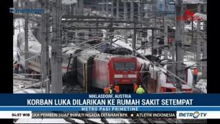 Dua Kereta Penumpang di Austria Bertabrakan